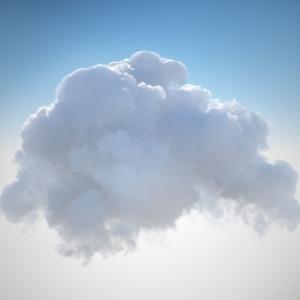 OctaneRender 3 Volumetric Cloud Example